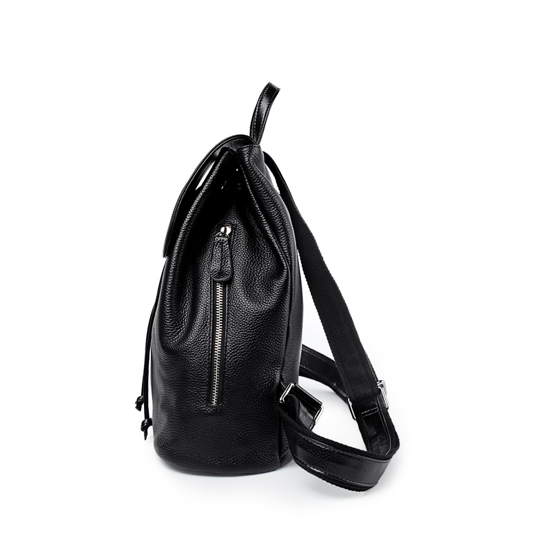 Fashion women genuine leather backpacks for girl high quality female shoulder bags teenagers schoolbag mochila small girl G500 in Backpacks from Luggage Bags