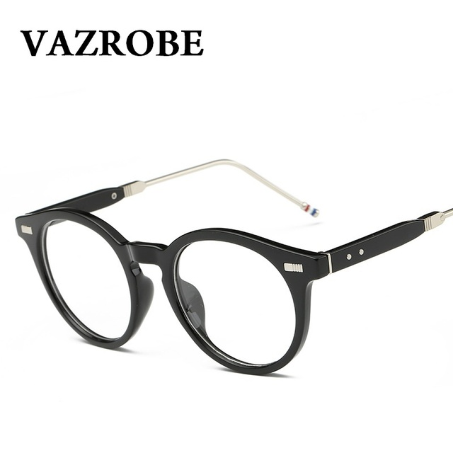 8a7a8271c8 VAZROBE Retro Round Glasses Frame Men Women s Vintage Eyeglasses Frames  brand Best Optical Lenses Spectacles PC