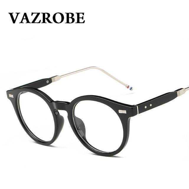 VAZROBE gafas redondas marco Retro hombres mujeres Vintage gafas ...