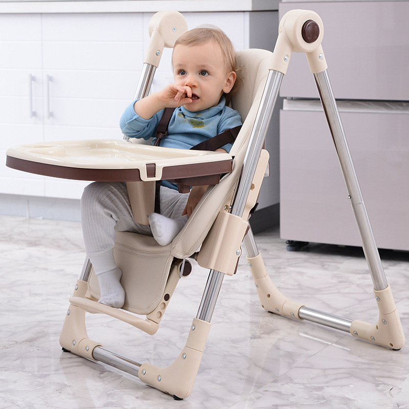Free shipping three in one Baby Dining Highchair Baby Eating Chair Multi Function Folding Seat Can  be raised and lowered