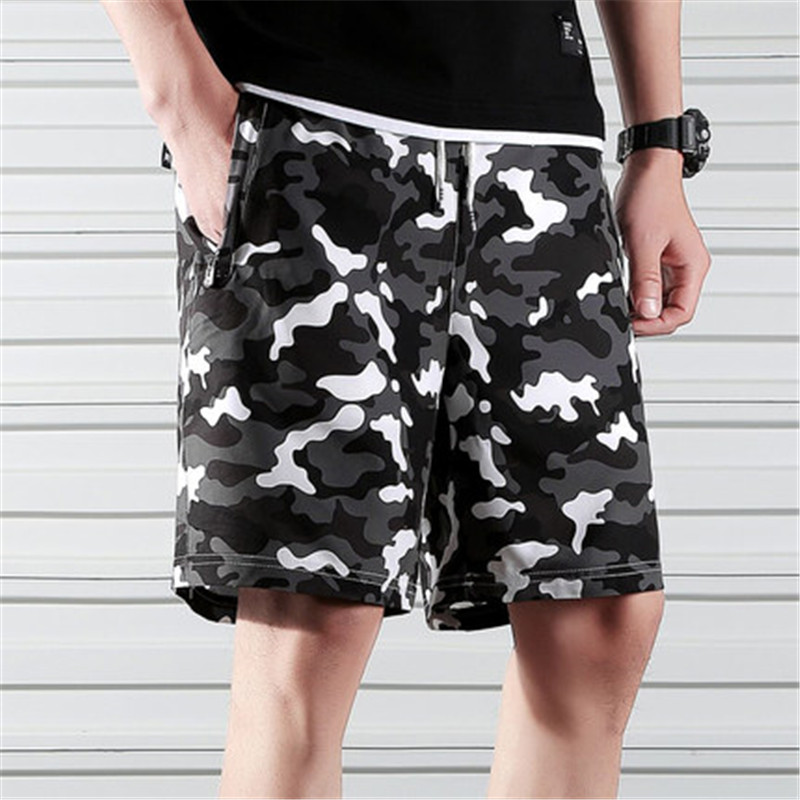 Camouflage Shorts Men 2019 Summer Military Style Beach Shorts Male Elastic Waist Casual Camo Camouflage Patchwork Shorts