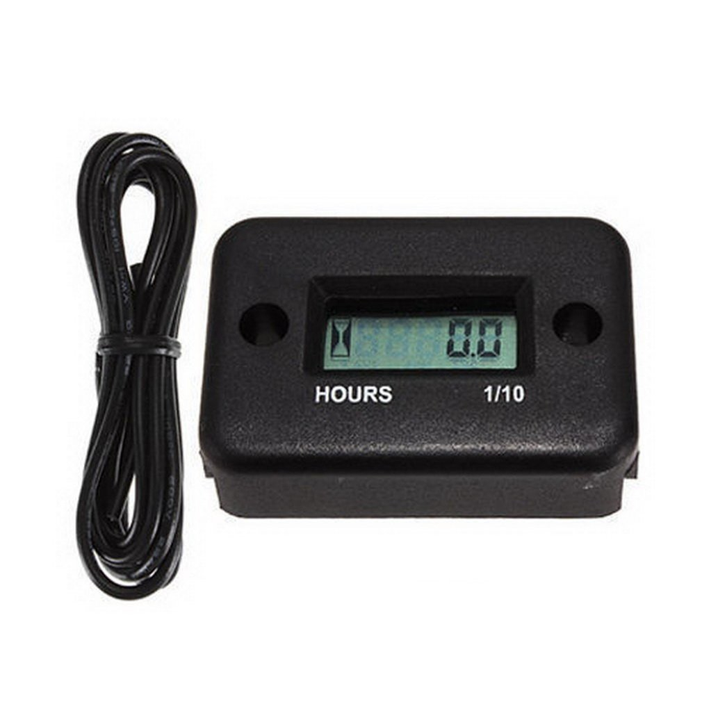 2018 New Inductive Digital Hour Meter Waterproof LCD Display for Bike Motorcycle ATV Snowmobile Marine Boat Ski Dirt Gas Engine