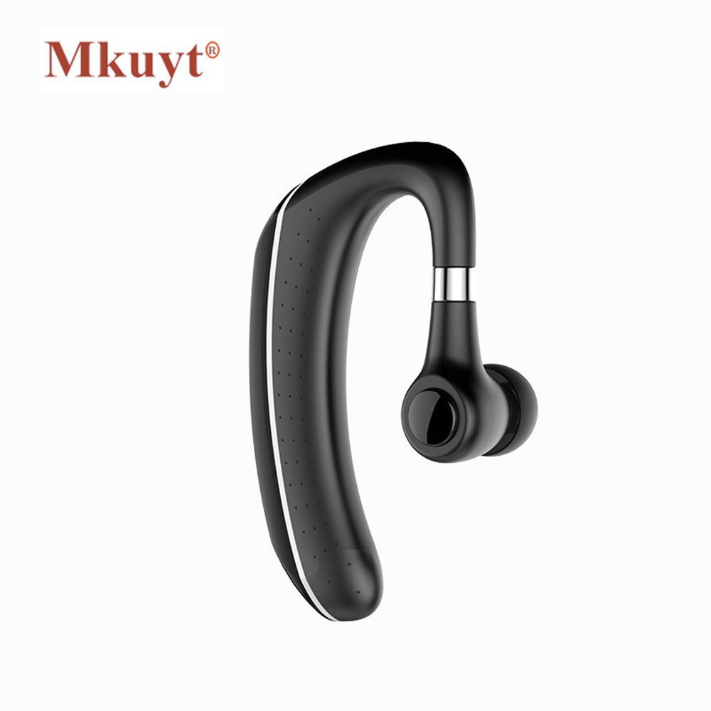 MKUYT Handsfree Business Waterproof Bluetooth Earphone Headphone With Mic Voice Control Wireless Bluetooth Headset For Phones bq 618 wireless bluetooth v4 1 edr headset support handsfree earphone with intelligent voice navigation for cellphones tablet