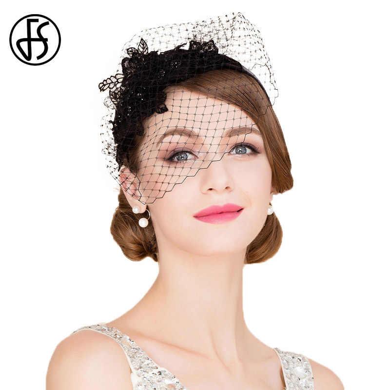 Black Cocktail Hat race hat, Hat with veil,Black Fascinator Hat wedding mini hat,Black fascinator bridal hat veil hat white flower hat