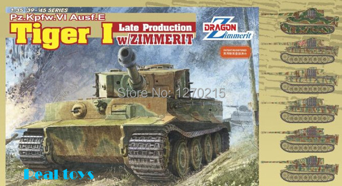 Dragon model 6383 1 35 Pz Kpfw VI Ausf E Tiger I Late Production w Zimmerit