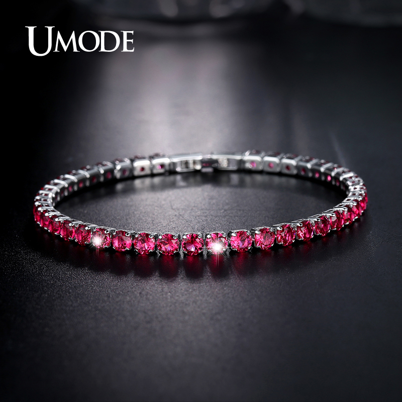 font b UMODE b font Brand font b Bracelets b font For Women Simulated Ruby