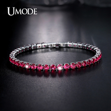 UMODE Brand Bracelets For Women Charm 4mm 0 25ct Round CZ Bracelet Hot Christmas Gifts Fashion