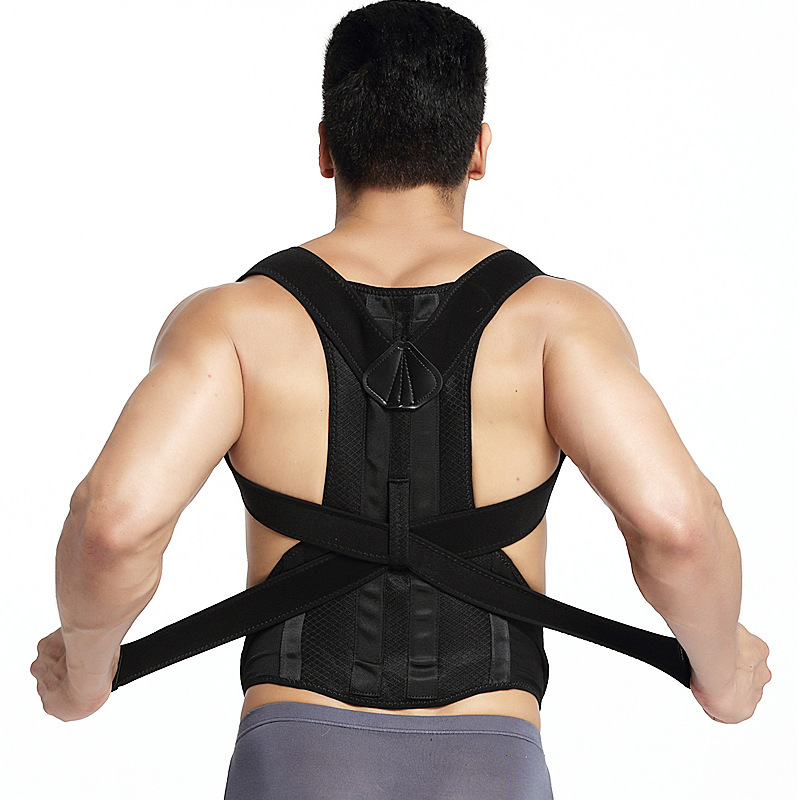 JORZILANO Women Man Back Belt Posture Corrector Brace Support Posture Shoulder Corrector Health Care Shoulder Back Support Belt aibikang steel posture corrector back brace and adjustable double pull shoulder back support belt xxl 52 black