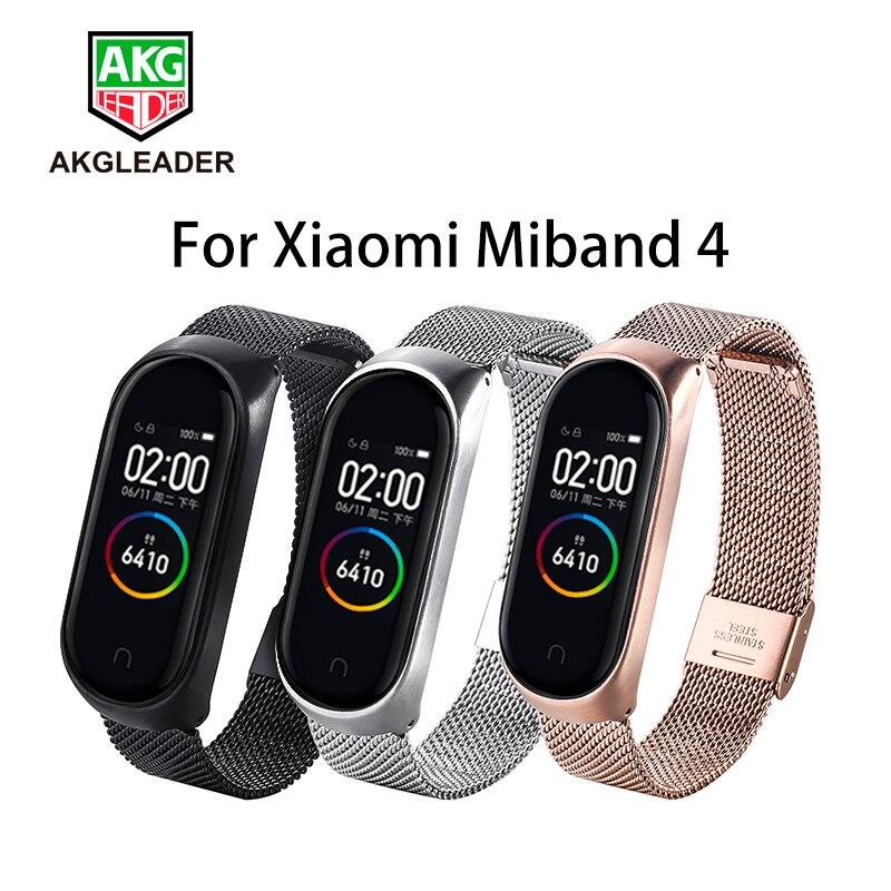 Newest Mi Band 4 Bracelet Miband 2 3 Wrist Strap Screwless Stainless Steel For Xiaomi Mi Band 3 Wristbands Pulseira Mi Band 4