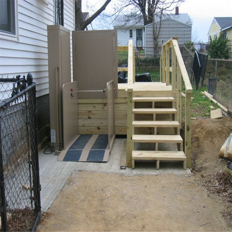 home by vertical installed gallery in services lift residential wheelchair platform porch ehls lifts living chicago extended il