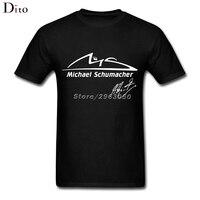 Michael Schumacher Tees Shirt Men Free Shipping Short Sleeve Crewneck Cotton Plus Size Party T Shirts