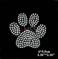 30 pcs/lot motif impression patte d'ours hot fix strass transfert de chaleur design fer sur motifs Scrapbooking bricolage accessoires (ss-2362)