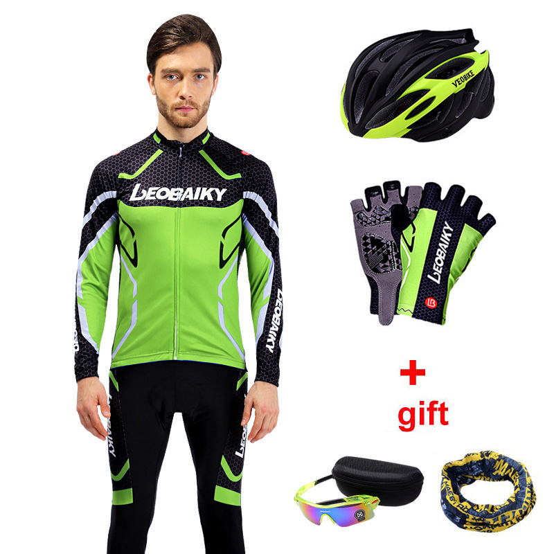 Autumn Spring Cycling Sportswear Mens Bicycle Wear Long Sleeve Cycle Clothing Mtb Jersey Cycling Set Men Bike Equipment Clothes