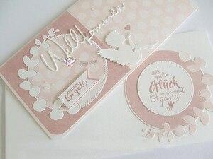 Image 3 - Piggy Craft metal cutting dies cut die mold German welcome letter Scrapbook paper craft knife mould blade punch stencils dies