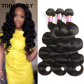 Christmas Deals Queen Hair 8A Brazilian Virgin Hair Body Wave Brazilian Hair Weave Bundles Wet and Wavy Virgin Brazilian Hair