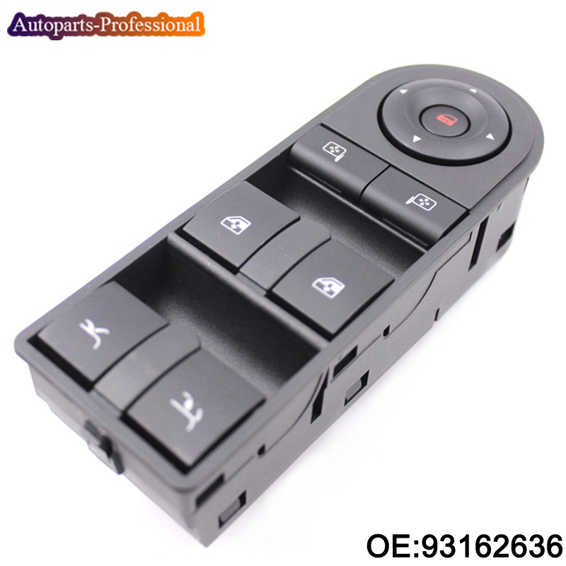 New Electric Power Window Master Control Switch For opel tigra twintop 2007 OEM 93162636 High Quality 7pcs oem chrome headlight master window