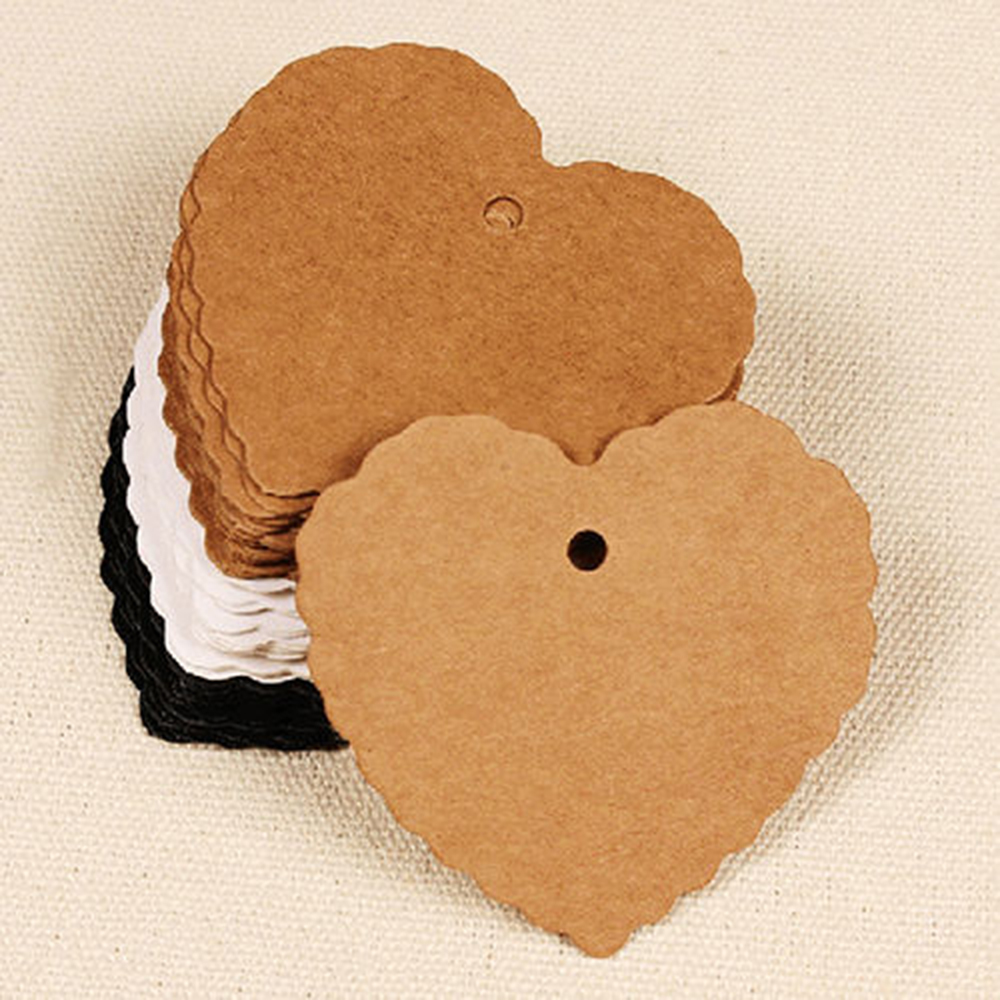 Average Cost Of Wedding Gift: 50PCS Heart Shape Kraft Paper Hang Tags Wedding Party