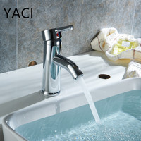 YACI Bathroom Basin Mixer Tap Chrome Deck Mount Wash Basin Single Handle Faucet Home Decor Bathroom Faucet Home & Kitchen