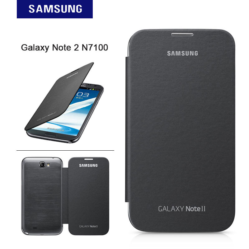 designer fashion 8116c f17ee Original Samsung Note 2 Case Leather Matte Shockproof Cover For Samsung  Galaxy Note 2 N7100 Flip Case Protective Shell-in Flip Cases from  Cellphones & ...