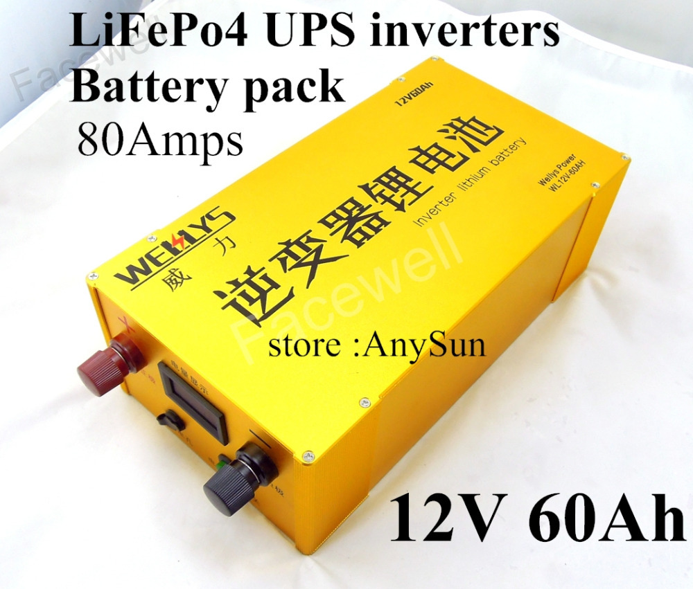 brand power supply 12v backup battery 60ah lifepo4 pack electric bike laptop power bank 12v. Black Bedroom Furniture Sets. Home Design Ideas