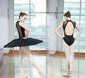 Ginástica collant de balé adulto mulheres traje do bailado preto sexy sem mangas camisola ballet bodysuit shapewear senhora bellet dress