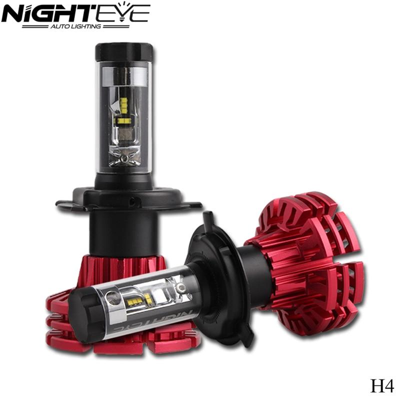Nighteye H4 Car Led 12V Headlight High Power Auto Hi/lo HB2 9003 H13 9007 High Low 60W White 6500K Bulbs 10000LM H7 12V Headlamp