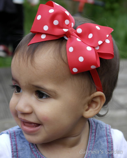 baby girl headband Infant hair newborn Headwear tiara headwrap Hair Accessories Toddlers Ribbon Kids Flower bow turban Dot Band