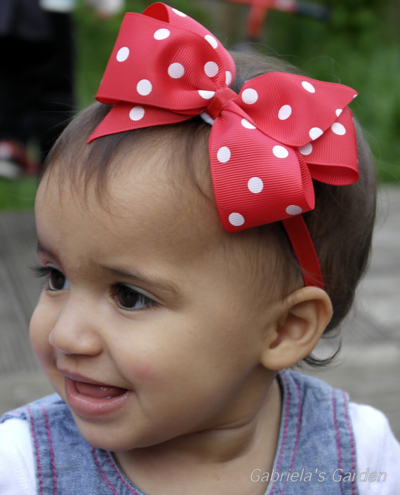baby girl headband Infant hair newborn   Headwear   tiara headwrap Hair Accessories Toddlers Ribbon Kids Flower bow turban Dot Band