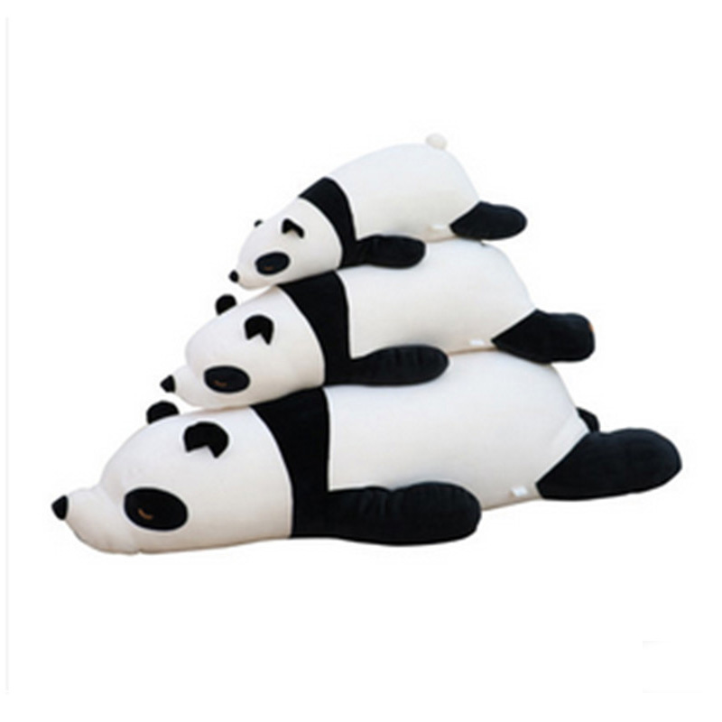 Fancytrader Super Soft Plush Panda Pillow Toy Fluffy Stuffed Animals Panda Cushion Doll for Gifts and Decoration 2 Sizes Availab largest size 95cm panda plush toy cute expression panda doll birthday gift w9698