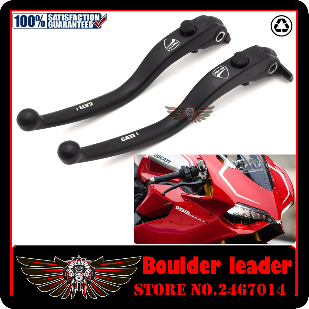 Black Motorbike Motorcycle Left Right Brake Clutch Levers For DUCATI DIAVEL / CARBON MULTISTRADA 1200/S free shipping motorcycle 7 8 black hydraulic left right clutch