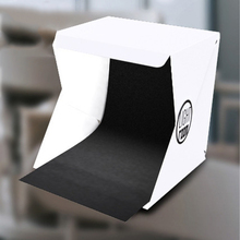 1pcs Mini Folding Lightbox Photography LED Light Soft Box Photo Desktop Studio  Photo Background Kit Lightbox for DSLR Camera aluminum photo frame with led light lightbox