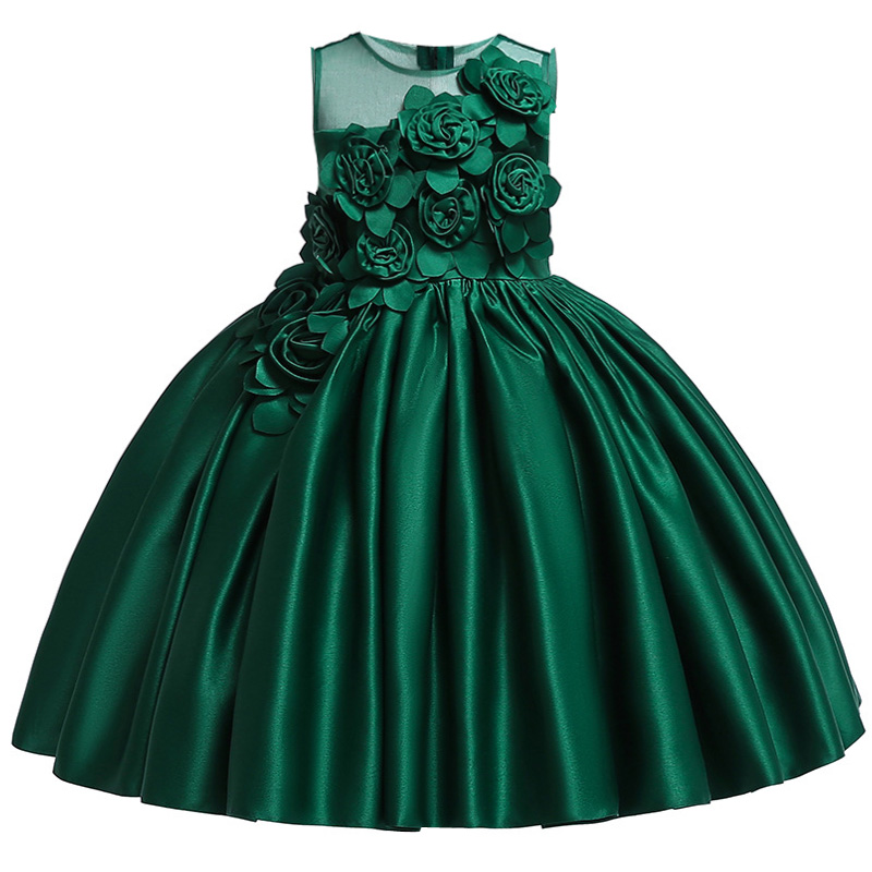 HTB1yj.sbhrvK1RjSszeq6yObFXaP Kids Dresses For Girls Elegant Princess Dress Christmas Children Evening Party Dress Flower Girl Wedding Gown vestido infantil
