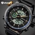 INFANTRY Luxury Brand Men's Quartz Digital Watches Men Fashion Casual Sports Clock Genuine Leather Military Wristwatches Relogio