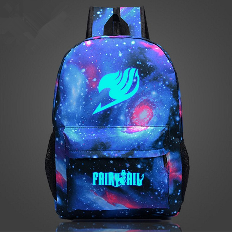 Fairy Tail Naruto One Piece Backpack Japan Anime Printing School Bags For Teenager Cartoon Harajuku Bag Backpack Mochila Galaxia anime fairy tail backpack student cartoon school bags canvas travel backpacks durable teenager daily bag