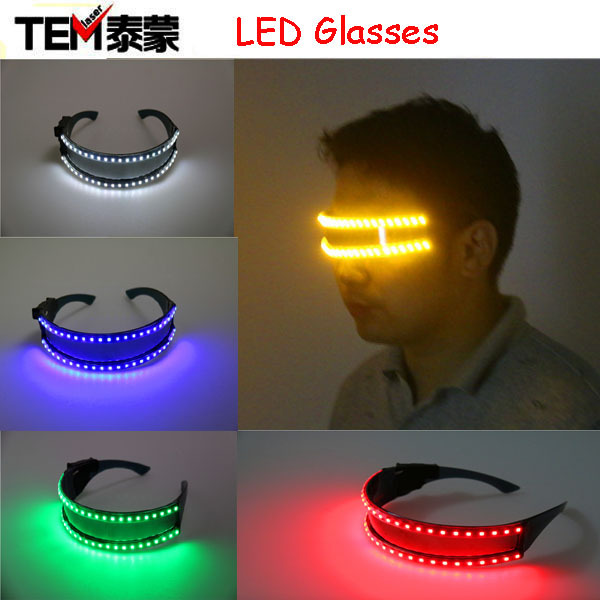 무료 배송 10pcs LED 안경, 나이트 클럽 Nerformers 파티 춤 적 열하는 스파이더 맨 마스크 안경에 대 한 레이저 안경