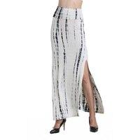 European American Style Women Skirts Fashion Print Straight Long Skirts High Waist Straight Causal Loose Women's Skirts
