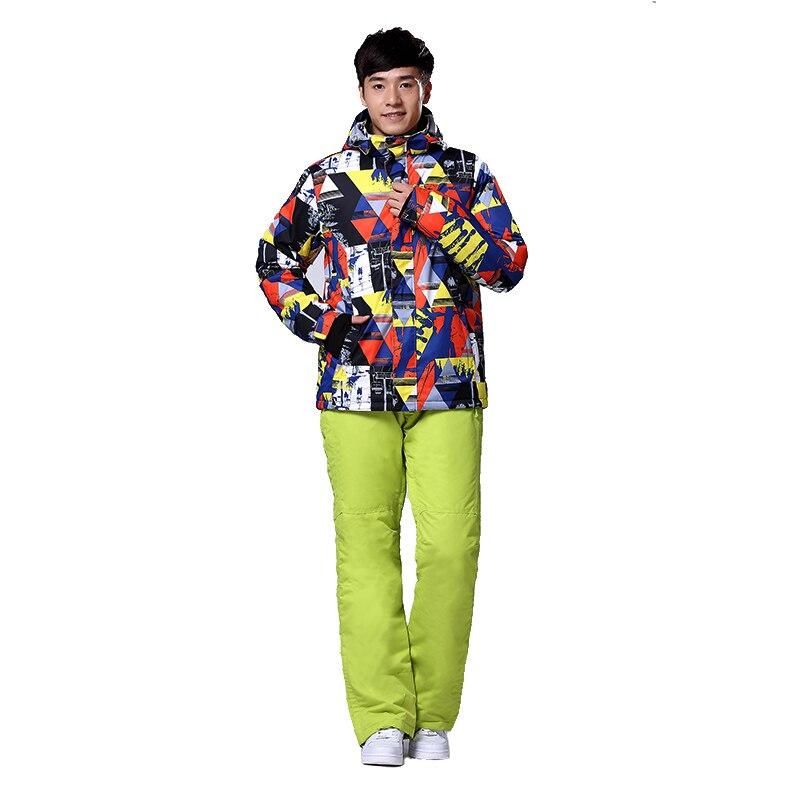 Prix pour 2017 de Haute Qualité Mâle Hommes Combinaisons de Ski Ski Veste et Pantalon de Ski En Plein Air Snowboard Veste et Pantalon Randonnée Veste D'hiver vêtements