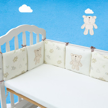 HOT 6pieces/set baby bedding crib bumper for Newborns toddler Children's Bed around Protector