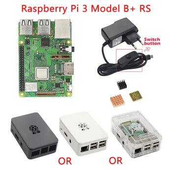 Raspberry Pi 3 Modèle B + Plus kit Raspberry Pi 3 Modèle B + 3 pcs Dissipateur de Chaleur + ABS Cas + 5 V 2.5A Puissance Adaptateur pour Raspberry Pi 3B +/3