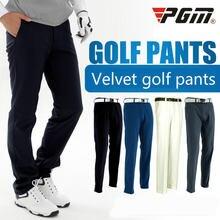 Мужские утепленные флисовые брюки для гольфа с защитой от ветра