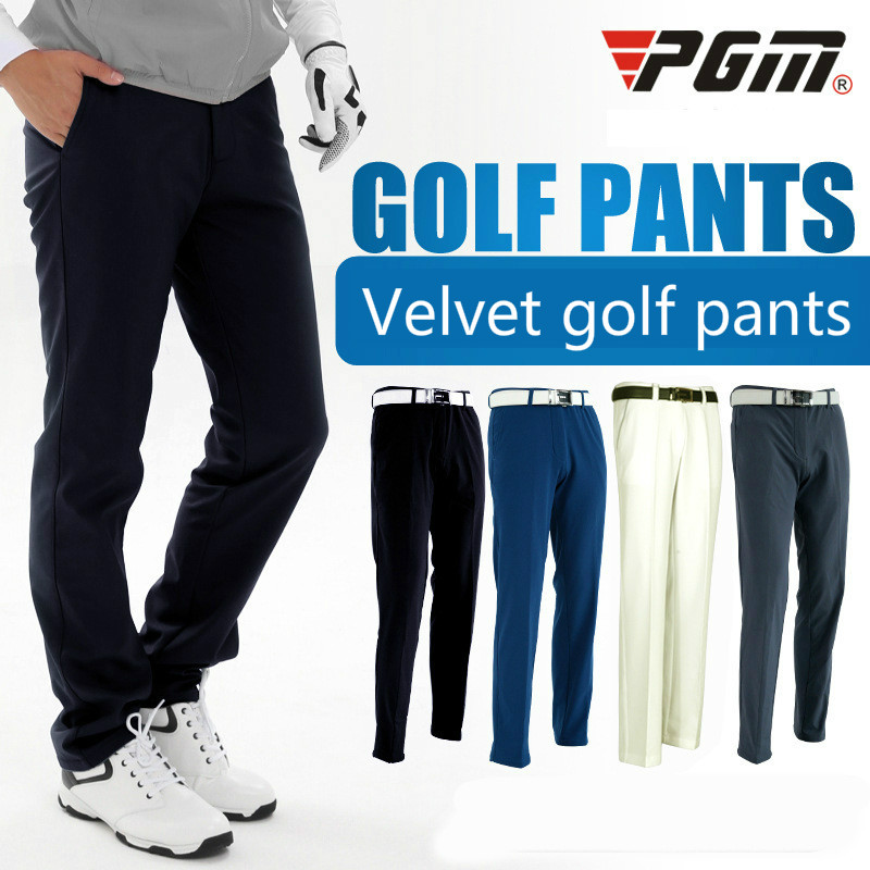 PGM golf thickened fleece pants mens Autumn Windproof warm Golf trousers waterproof Sports pants High Quality Sportswear