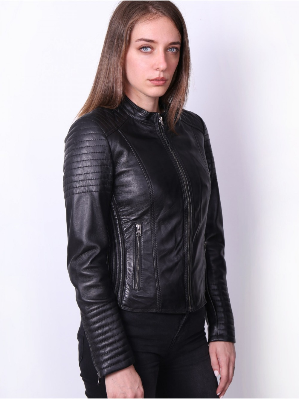 VAINAS European Brand  Women Genuine leather jacket for women Real sheep leather jacket Motorcycle jackets Biker jackets Queen