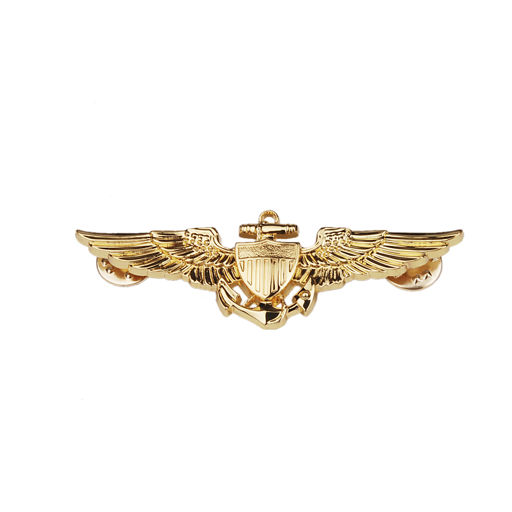 WW2 US NAVAL AVIATORS METAL WINGS PIN