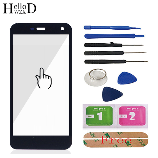 HelloWZXD 5.0'' Front Outer Glass For Nomu S20 Front Glass (No Touch Glass Screen Digitizer Panel) Tools Free Adhesive