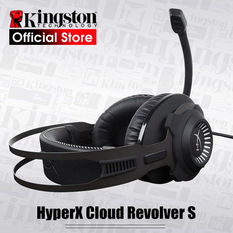 Dolby 7 1 Surround Sound Kingston HyperX headphone Cloud Revolver S Gaming Headset for PC PS4