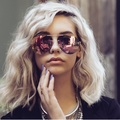 luxury oval Aviator Pink Sunglasses Women brand mirrored glasses 2017 rose gold Quay Sunglasses Female Sun Glasses for drving
