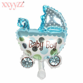 XXYYZZ New Mini Car Stroller Aluminum Balloons Foil Balloons Cute Baby Birthday Party Decoration Balloon Wholesale Gift image