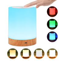 LED Touch Control Lamp Night Light Rechargeable Dimmable Smart Bedside Table Lamps 2800K 3100K Warm White