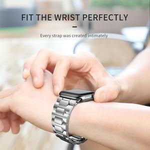 Image 2 - Ремешок HOCO для Apple Watch, ремешок из нержавеющей стали для Apple Watch 40 мм 44 мм, металлический браслет с звеньями, ремешок для i Watch Series 4 3 2 1, 2019