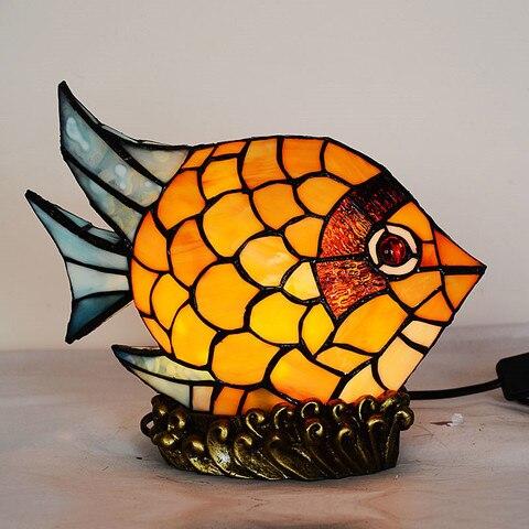 novidade criativo bebe projetor vitrais pequeno peixe